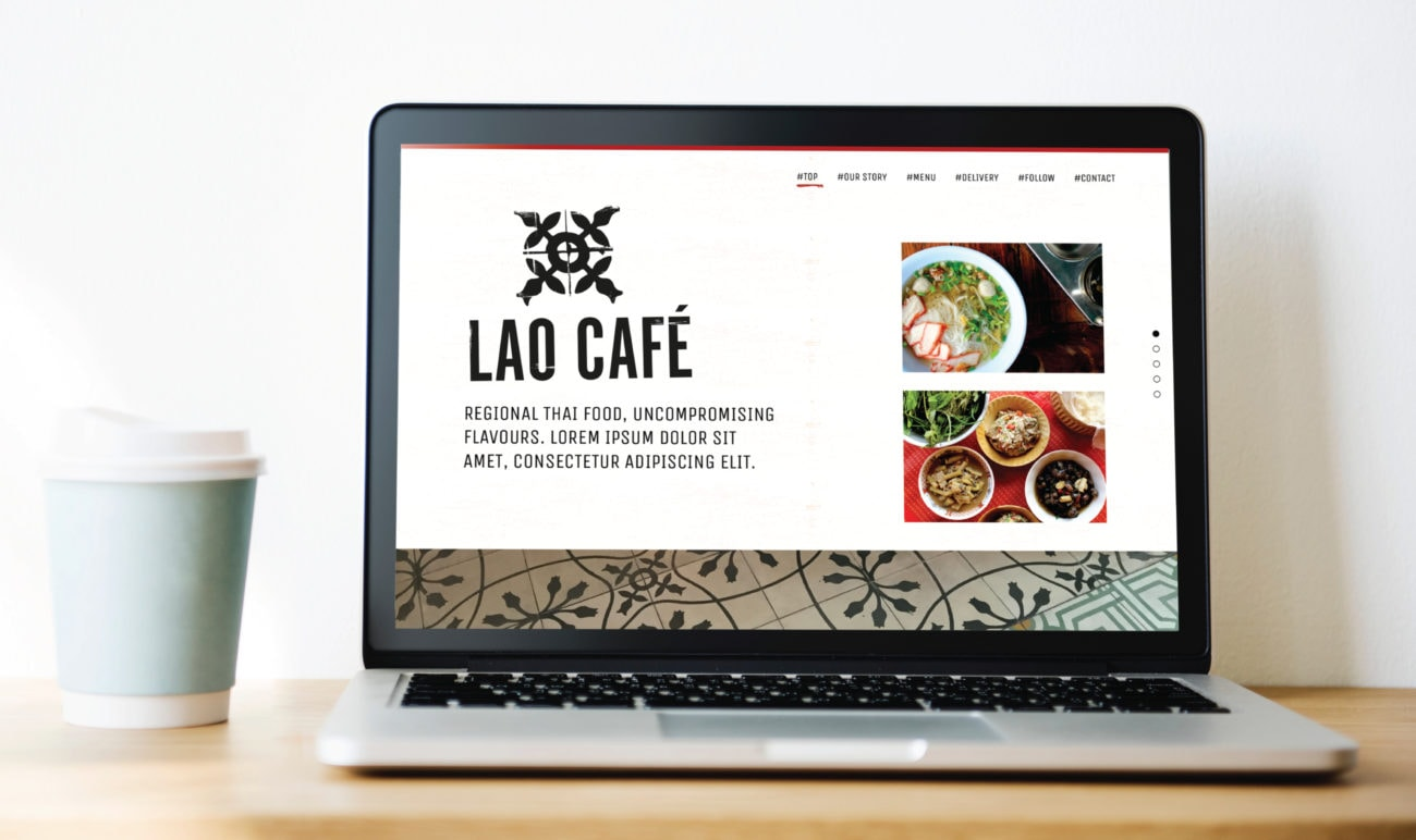 a one page website template in wordpress for lao café union 10